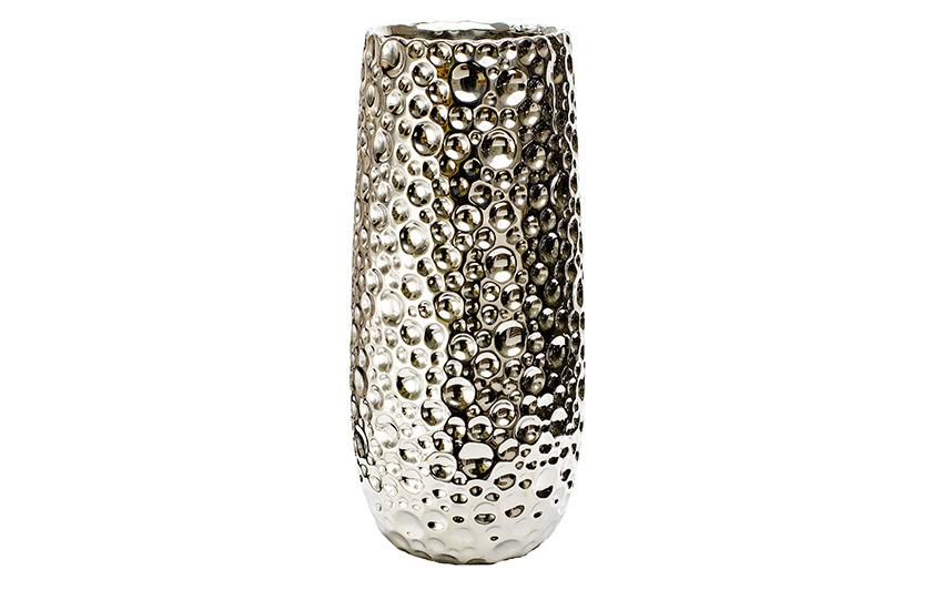 Silver color vase V - Brno