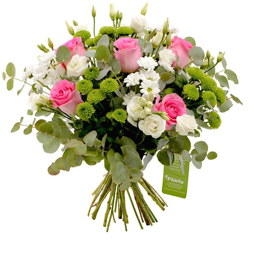Kytice santini růže eustoma