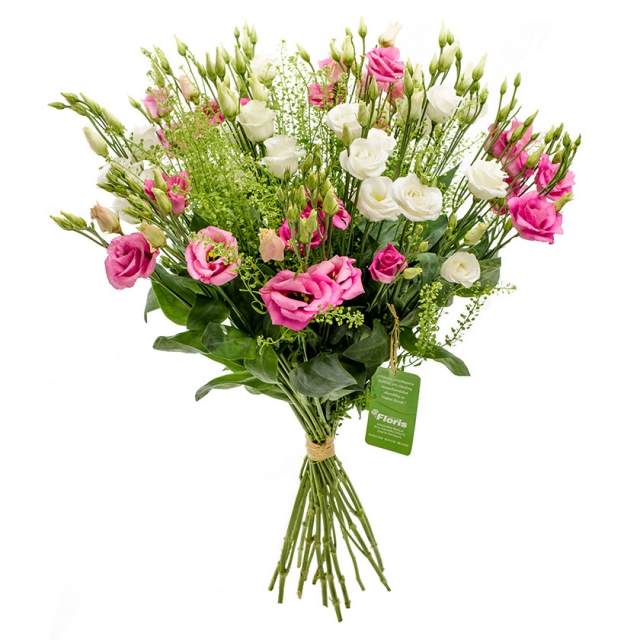 Pink and white eustoma bouquet Meadow - Brno