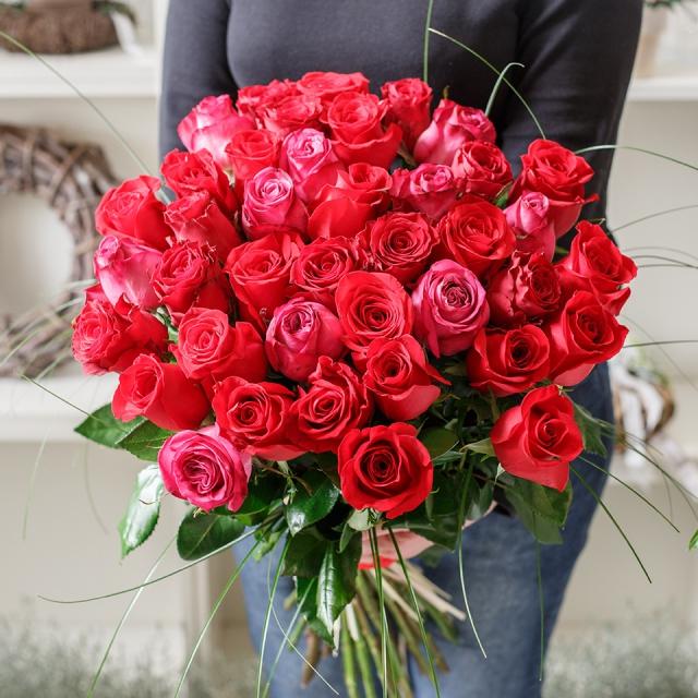 Kytice růží na Valentýna - Brno