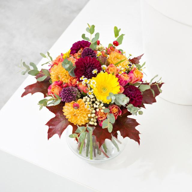 Podzimní svatební kytice Brno