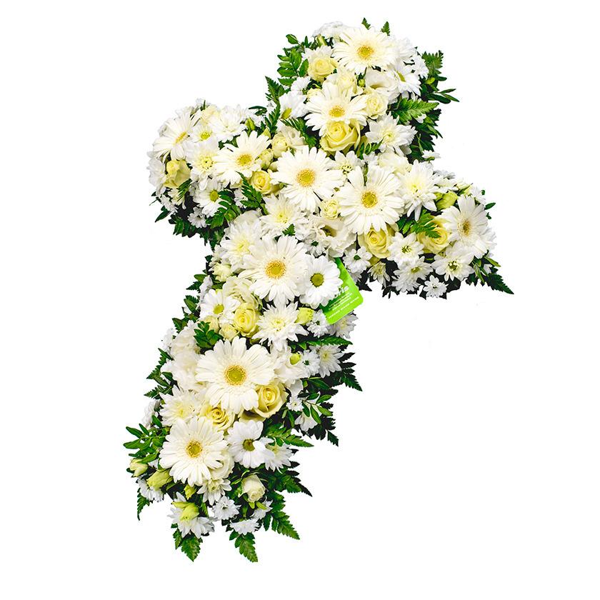 Smuteční kříž květinový mix