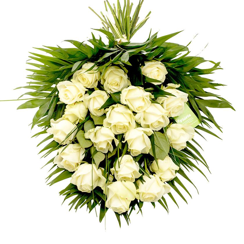 Smuteční kytice z růží větší - Brno