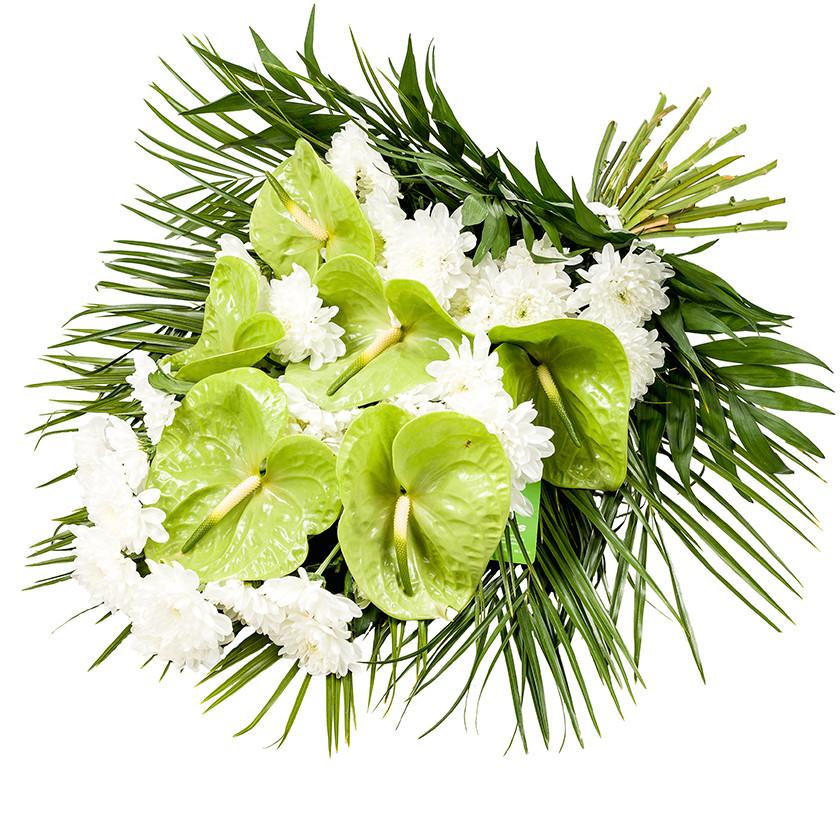Smuteční kytice anturie vázaná