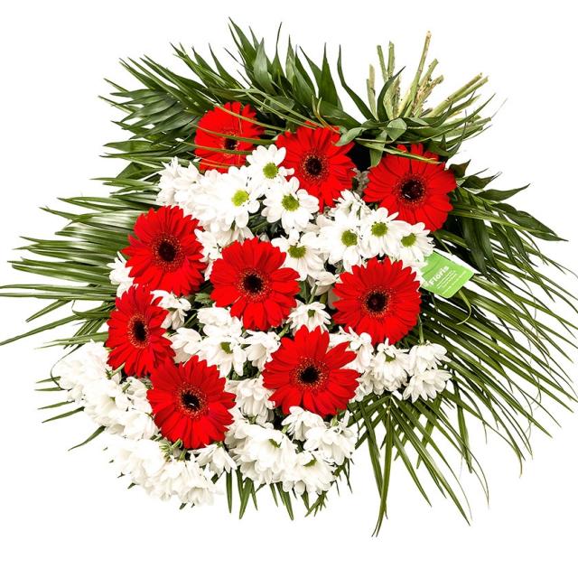 Smuteční kytice vázaná gerbery