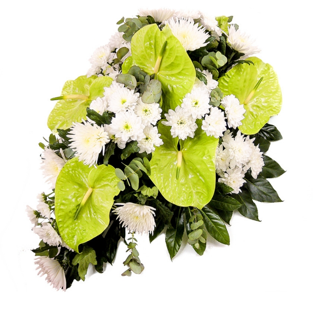 Chrysanthemum anthurium funeral spray - Brno