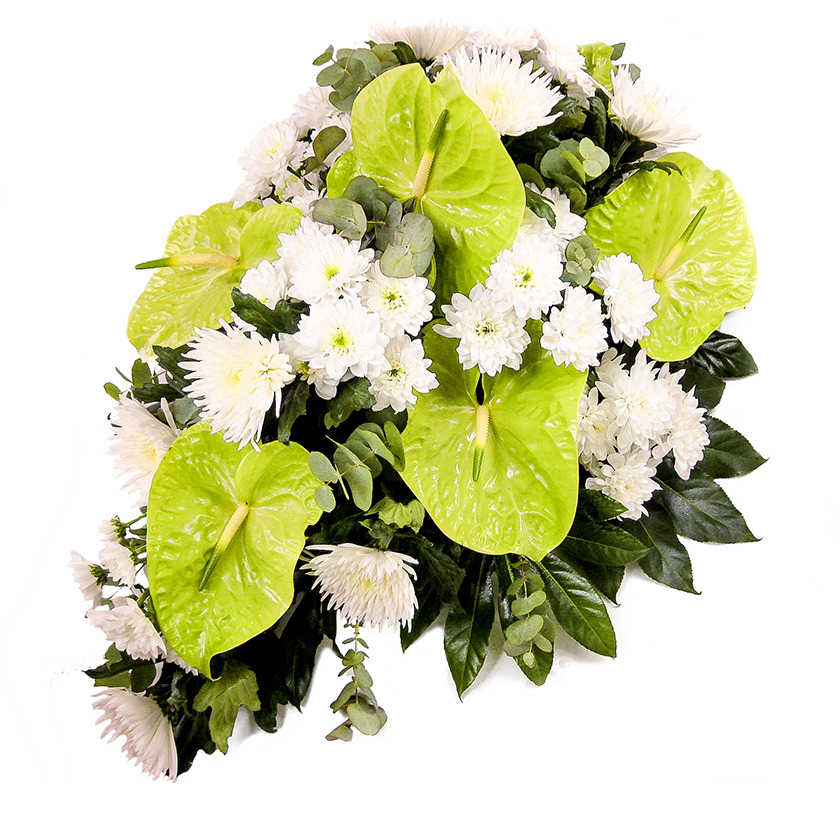 Smuteční kytice chryzantéma anturie - Brno