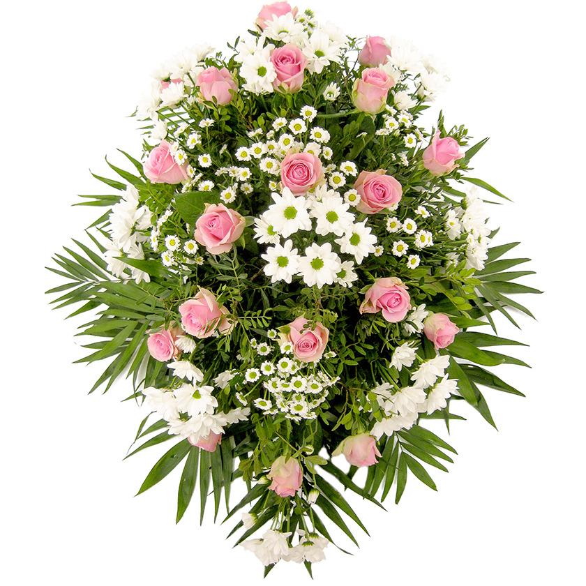 Smuteční kytice růžovo bílá