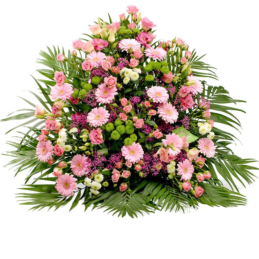 Smuteční kytice růžový jehlan - Brno