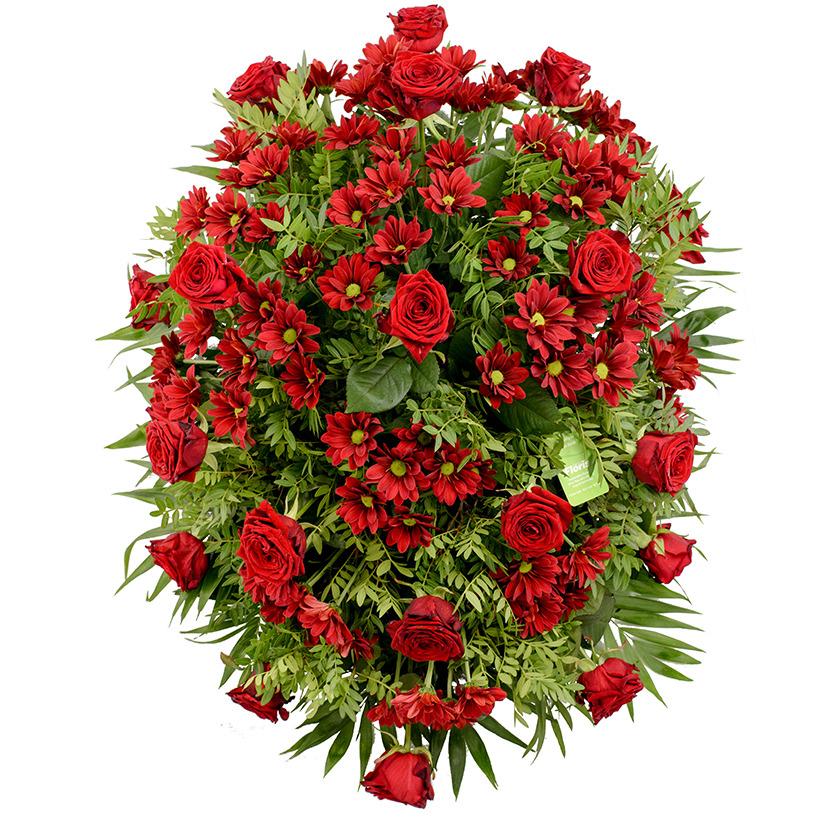Smuteční kytice červená