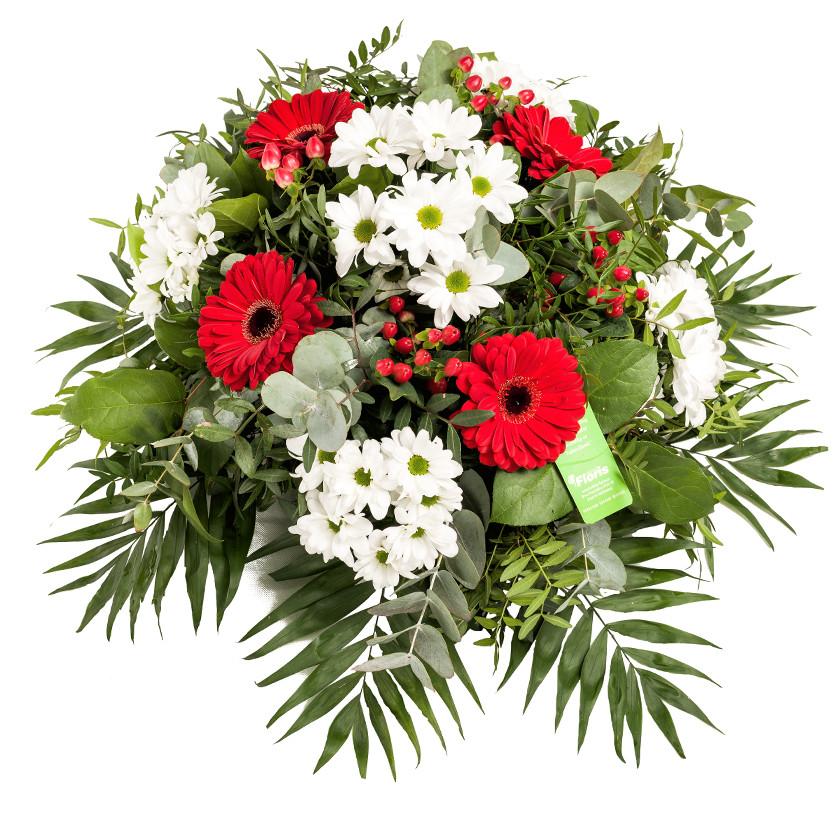 Smuteční kytice kulatá FLORIS mix - Brno