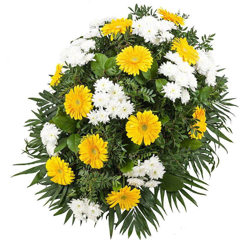 Smuteční kytice chryzantémy gerbery - Brno