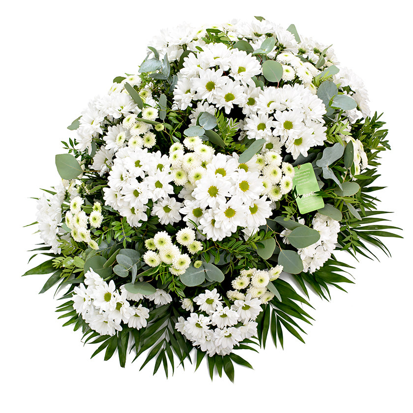 Smuteční kytice chryzantémy santini
