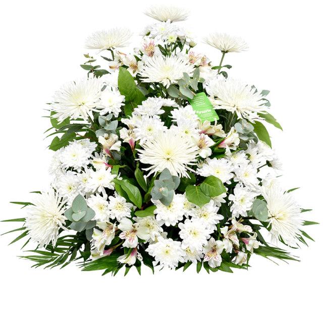 Smuteční kytice jehlan chryzantemy