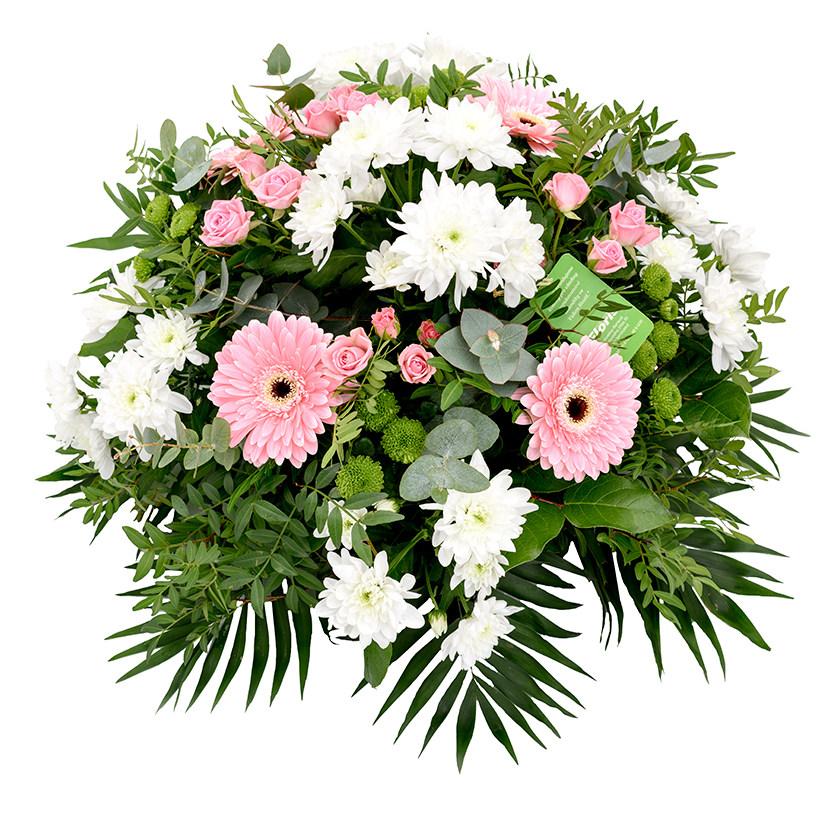 Smuteční kytice kulatá