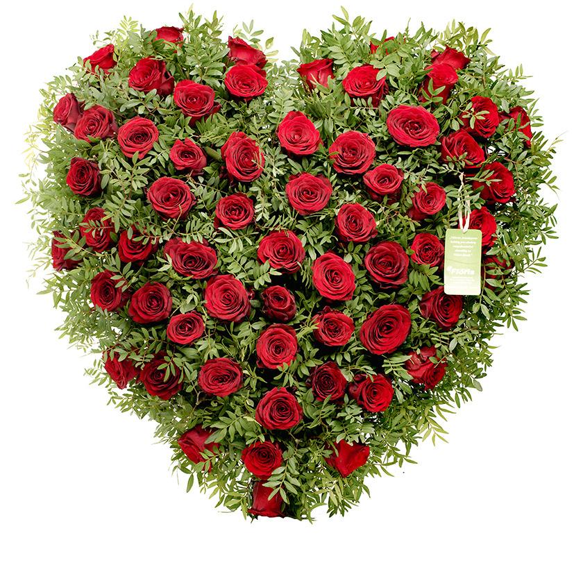 Smuteční srdce růže