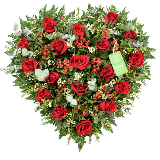 Smuteční srdce růže malé
