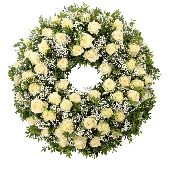 Rose funeral wreath CHIC - Brno