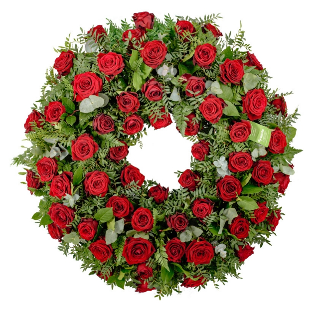 Rose funeral wreath - Brno