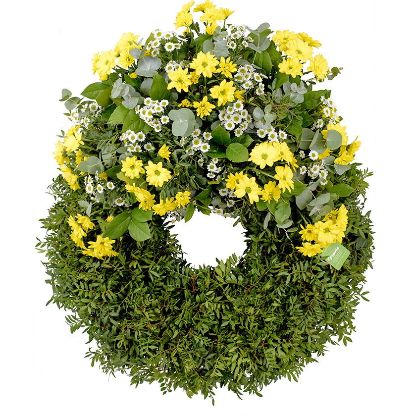 Chrysanthemum funeral wreath - Brno