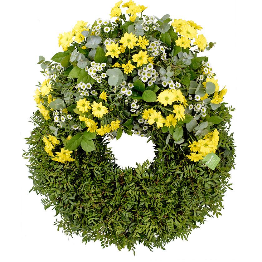 Smuteční věnec chryzantémy