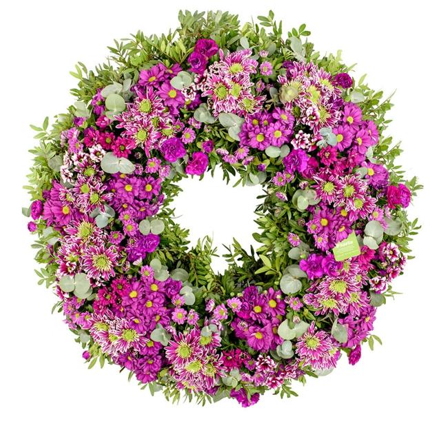 Violet funeral wreath - Brno