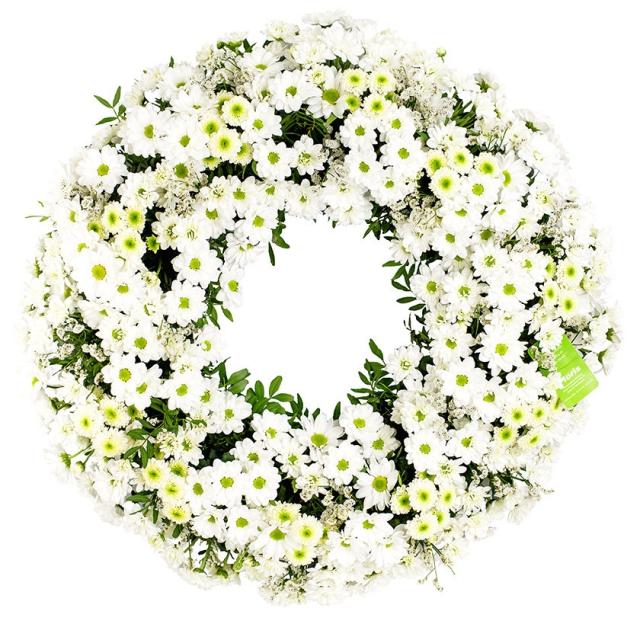 Chrysanthemum santini funeral wreath - Brno