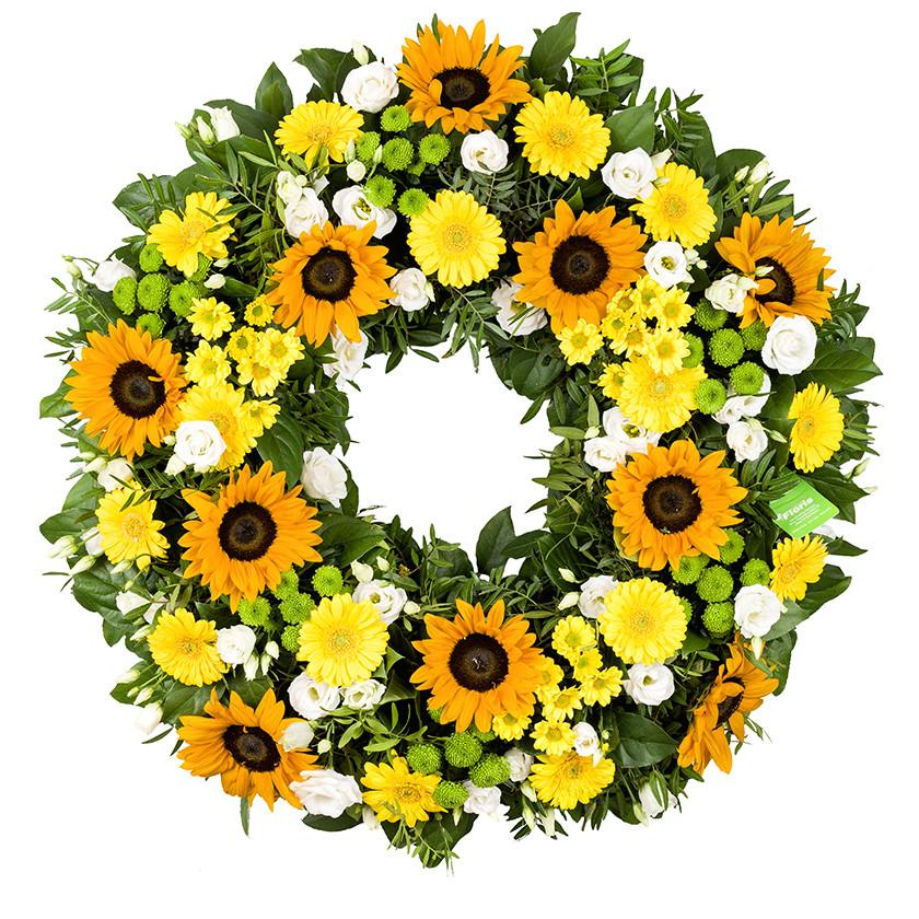 """Smuteční věnec slunečnice """"Letní"""""""