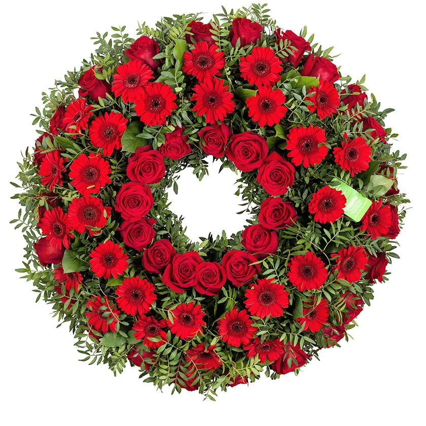 Smuteční věnec růže gerberky