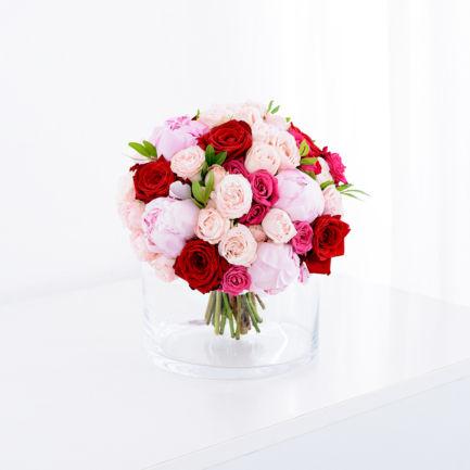 Svatební kytice růže pivoňky Brno
